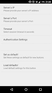 Hot Button  SSH Command Widget screenshot 3