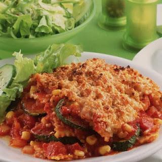 Ravioli and Vegetable Casserole.