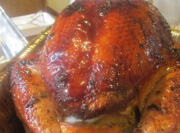 Citrus Stuffed Smoked Turkey On The Grill Recipe