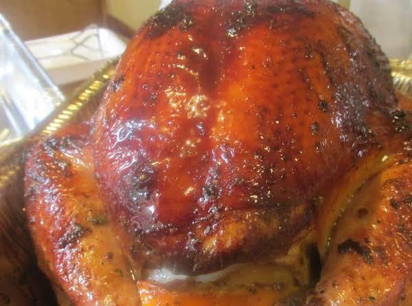 Citrus Stuffed Smoked Turkey On The Grill