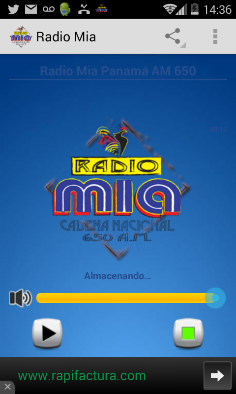 Radio Mia Panama- screenshot