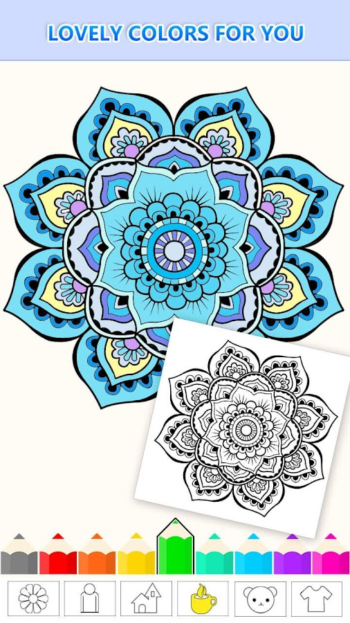 Mandala Coloring Pages Anti Stress Henna Mehndi