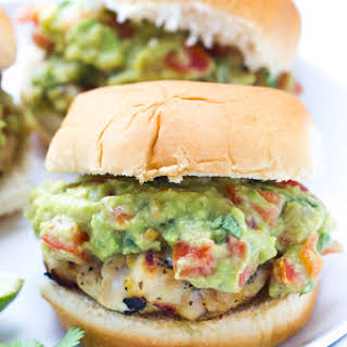 Cilantro Lime Chicken Sliders with Tomato Guacamole.
