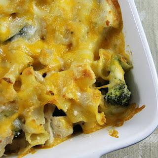 Poblano Pepper, Broccoli and Chicken Casserole.