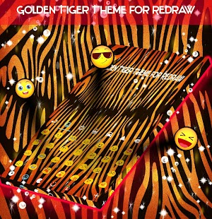 Golden Tiger Theme for Redraw - náhled