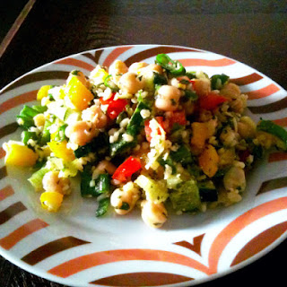 Back on Track Chickpea and Bulgur Salad