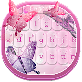Pink Butterflies Keyboard