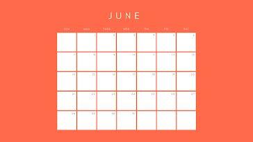Orange Monthly - Monthly Calendar template