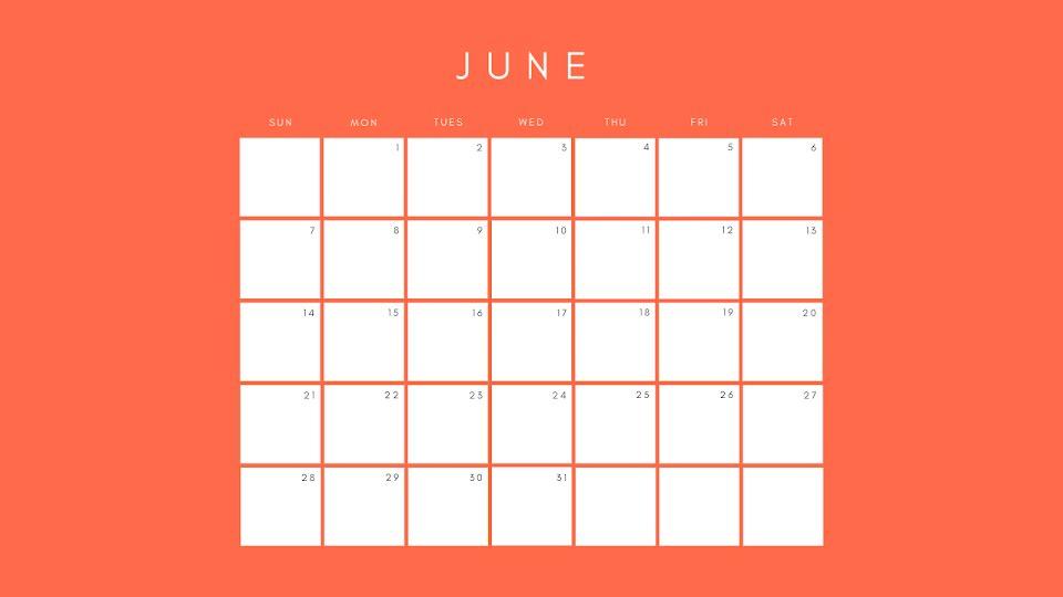 Orange Monthly - Calendar Template