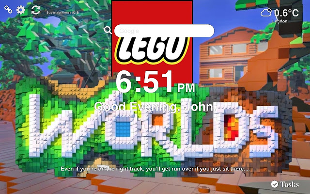 Lego Worlds HD Wallpaper Tab Theme