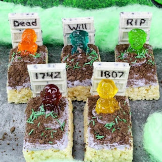 Halloween Rice Krispie Treats Zombie Graveyard.