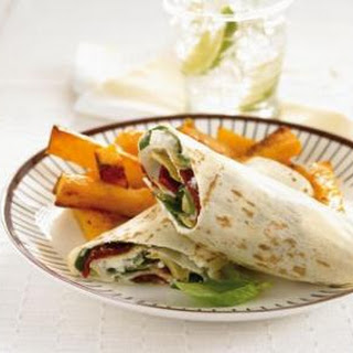 Deli Wraps With Pumpkin Chips.