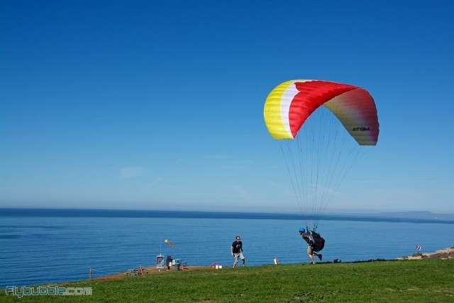 Ozone Atom 3 - the ultimate student glider to train on - flown and available at FlySpain Paragliding centre