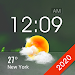 Home screen clock and weather,world weather radar icon