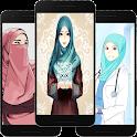 Hijab Cartoon Wallpaper Offline icon