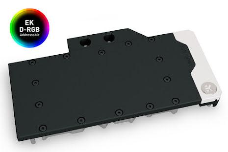 EK vannblokk for skjermkort, EK-Quantum Vector RE RTX 3080/3090 D-RGB - Nickel + Acetal