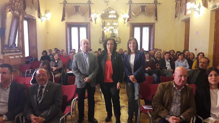 Presentación de las novedades de escolarización en Almería, ayer, en la sede de la Junta.