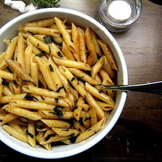 Pasta with Brown Butter and Fried Sage.