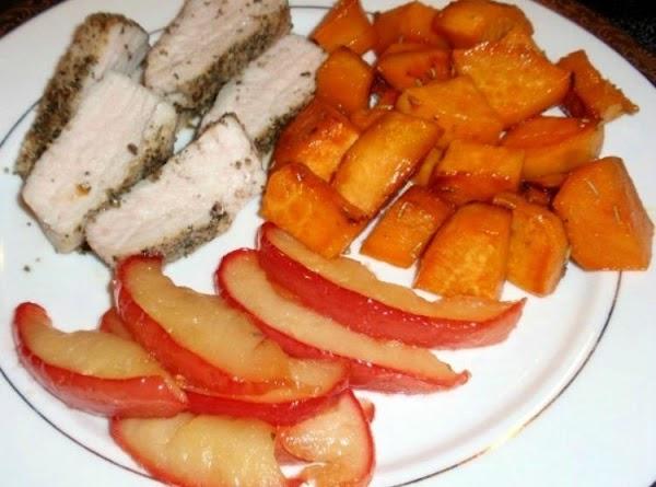 Savory Pork Tenderloin And Rosemary Sweet Potatos Recipe