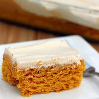 Skinny Pumpkin Butterscotch Poke Cake.