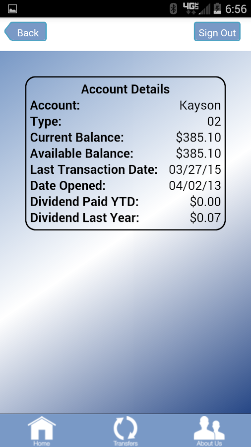Dillon CU Mobile Banking- screenshot