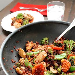 Cashew Chicken Quinoa Stir Fry.