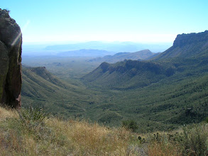 Photo: The first pass looks down into Juniper Canyon, with the South Rim in the upper right of the photo.