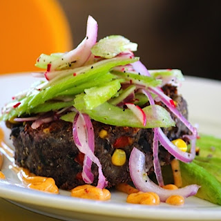 The Union Restaurant's Black Bean Cakes (Styling by Chef Dionisio Valdez / Contributed by Leslie Avers)