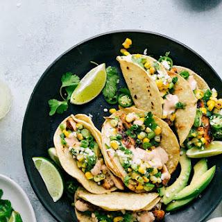 Mexican Street Corn Chicken Tacos.