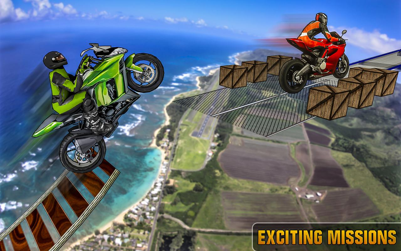 Screenshots of Impossible Bike 3D Tracks for iPhone