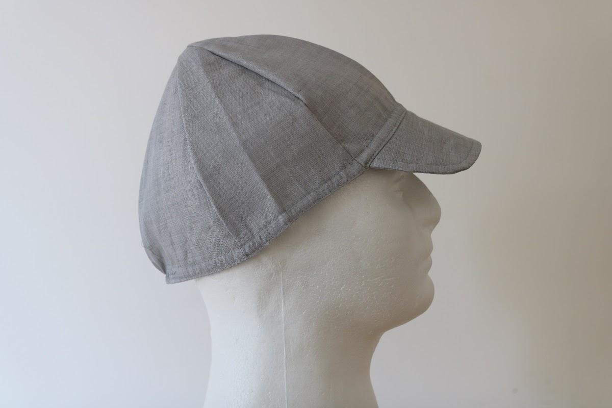 כובע בסיסי מבד חוסם קרינה לבן-אפור