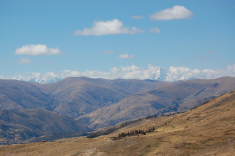 Photo: At this 13,000-ft. pass we get good views of the snow peaks of Ausangate.