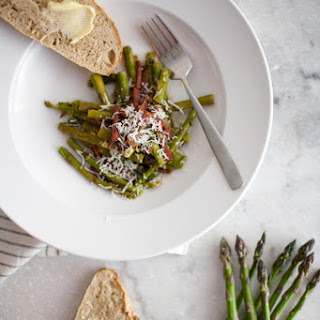 Warm Asparagus Salad With Dry Aged Salami