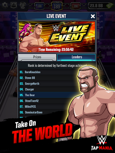 WWE Tap Mania: Get in the Ring in this Idle Tapper for PC