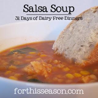 Salsa Soup (Dairy Free Recipe)