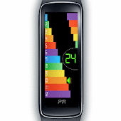 Gear Fit Color Bar Clock