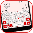 Hearts Doodles Keyboard Theme