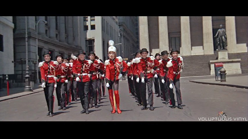 Charity (Shirley MacLaine) in a dream sequence as a marching band leader.
