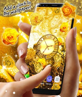 Golden Roses Live Wallpaper - náhled