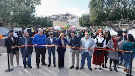 Autoridades políticas inaugurando el Parque de las Familias de Gádor.