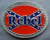 Bältesspänne Rebel sydstat oval
