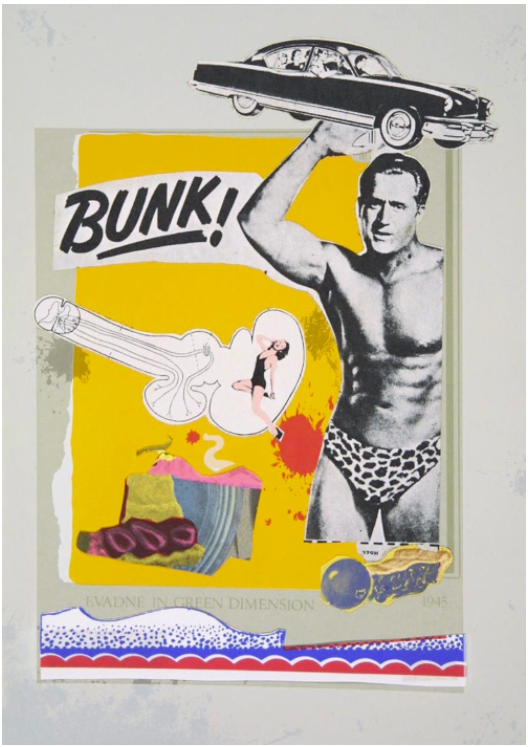 Eduardo Paolozzi - BUNK! - Evadne in Green Dimension, 1972