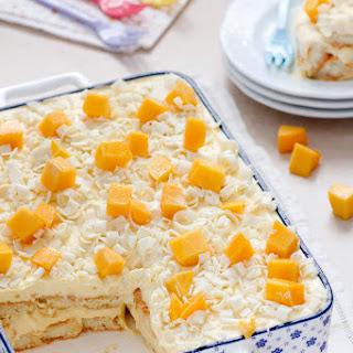 Mango and White Chocolate Tiramisu.