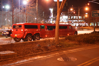 Photo: A limousine full of loud, rowdy people screaming and partying as it was waiting at a stop light.