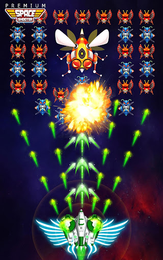 Space Shooter: Alien vs Galaxy Attack (Premium) apkpoly screenshots 11
