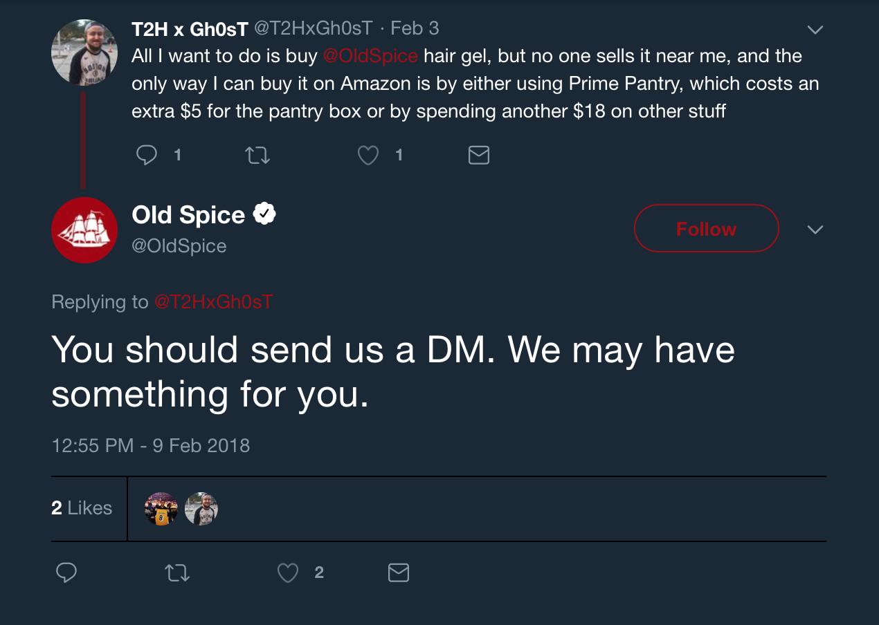 Old Spice reply