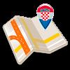 Karte von Kroatien offline
