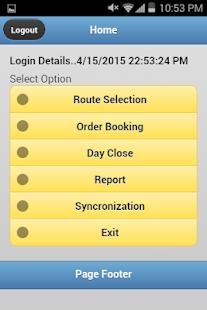 OrderBooking screenshot