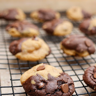 Chocolate and Peanut Butter Swirl Cookies.