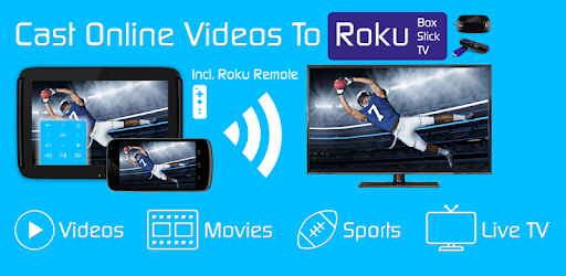 Browser + Remote for Roku to stream webvideos, online movies and livestreams